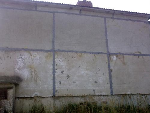 Узел заделки деформационного шва в стене